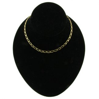 Gold-Plated Open Curb Chain Necklace (3 Lengths)