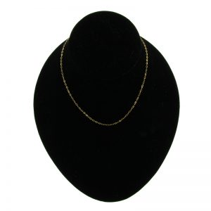 Gold-Plated Oval Belcher Chain Necklace (3 Lengths)