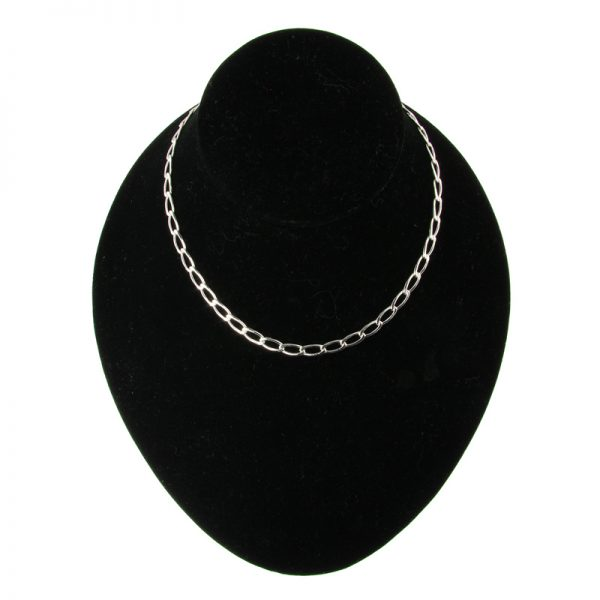 Silver-Plated Open Curb Chain Necklace (3 Lengths)