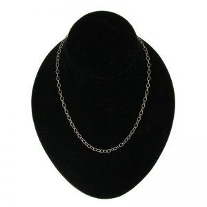 Silver-Plated Textured Link Chain Necklace (3 Lengths)