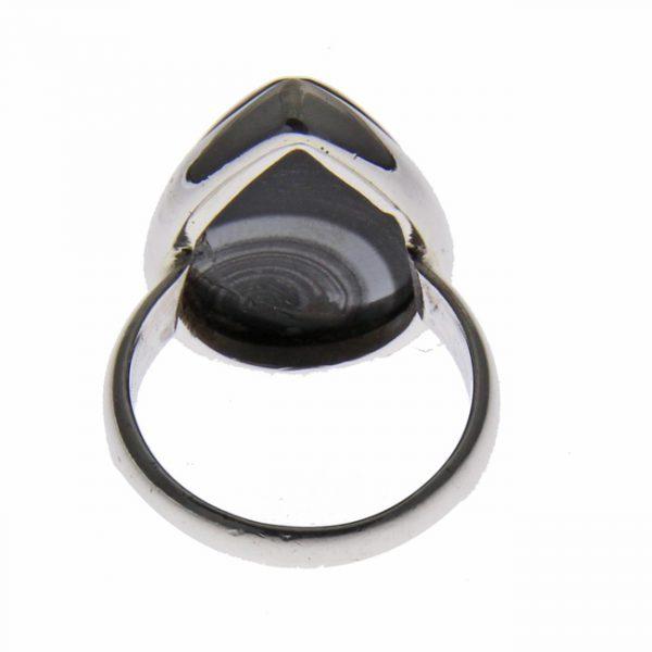 Psilomelane Silver Ring