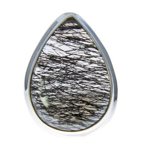 Black Tourmalated Quartz Ring 3