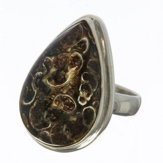 Turtella Jasper Drop Ring