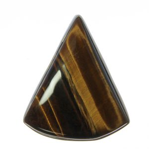 Tiger Eye Triangle Ring