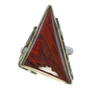 Silver Red Jasper Ring