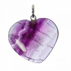 Fluorite Heart Pendant (4 Colors)