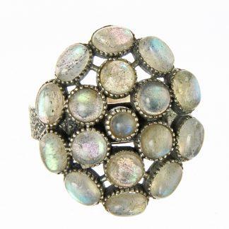 Labradorite Cluster Ring