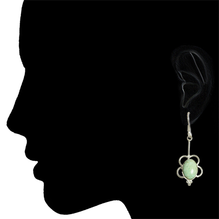 Amazonite Sterling Silver Earrings 2
