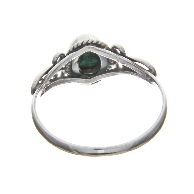 Malachite Silver Ring