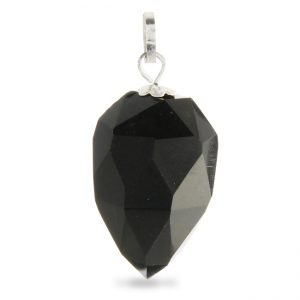 Faceted Onyx Drop Pendant