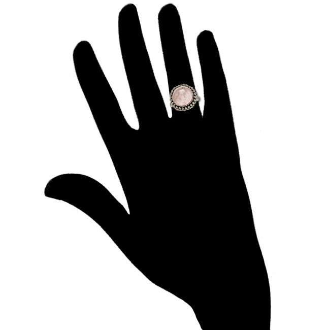 Rose Quartz Cabochon Ring