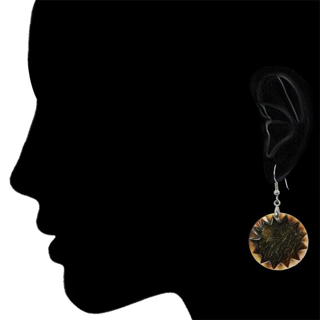 Dark Star Shell Earrings