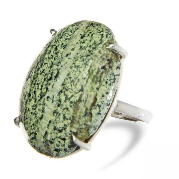 Swiss Opal Silver Ring