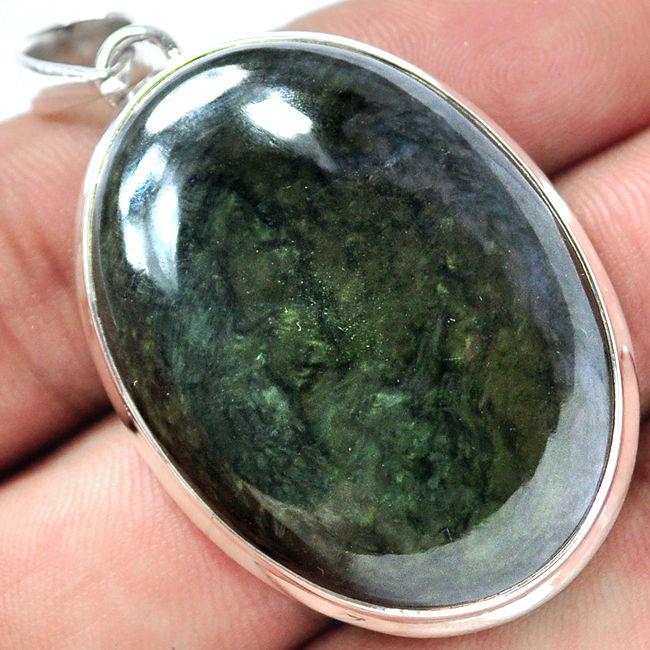 Velvet Obsidian Oval Pendant