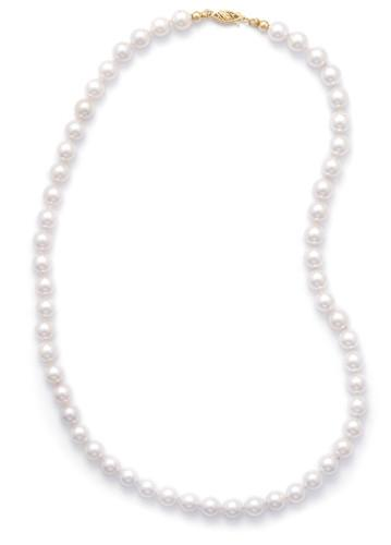 16″ 7-7.5mm Grade AAA Cultured Akoya Pearl Necklace