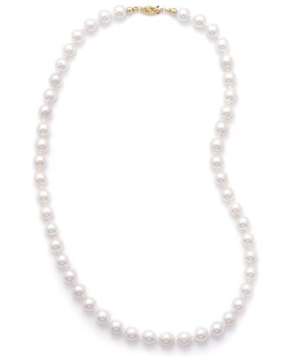 16″ 7.5-8mm Grade AAA Cultured Akoya Pearl Necklace