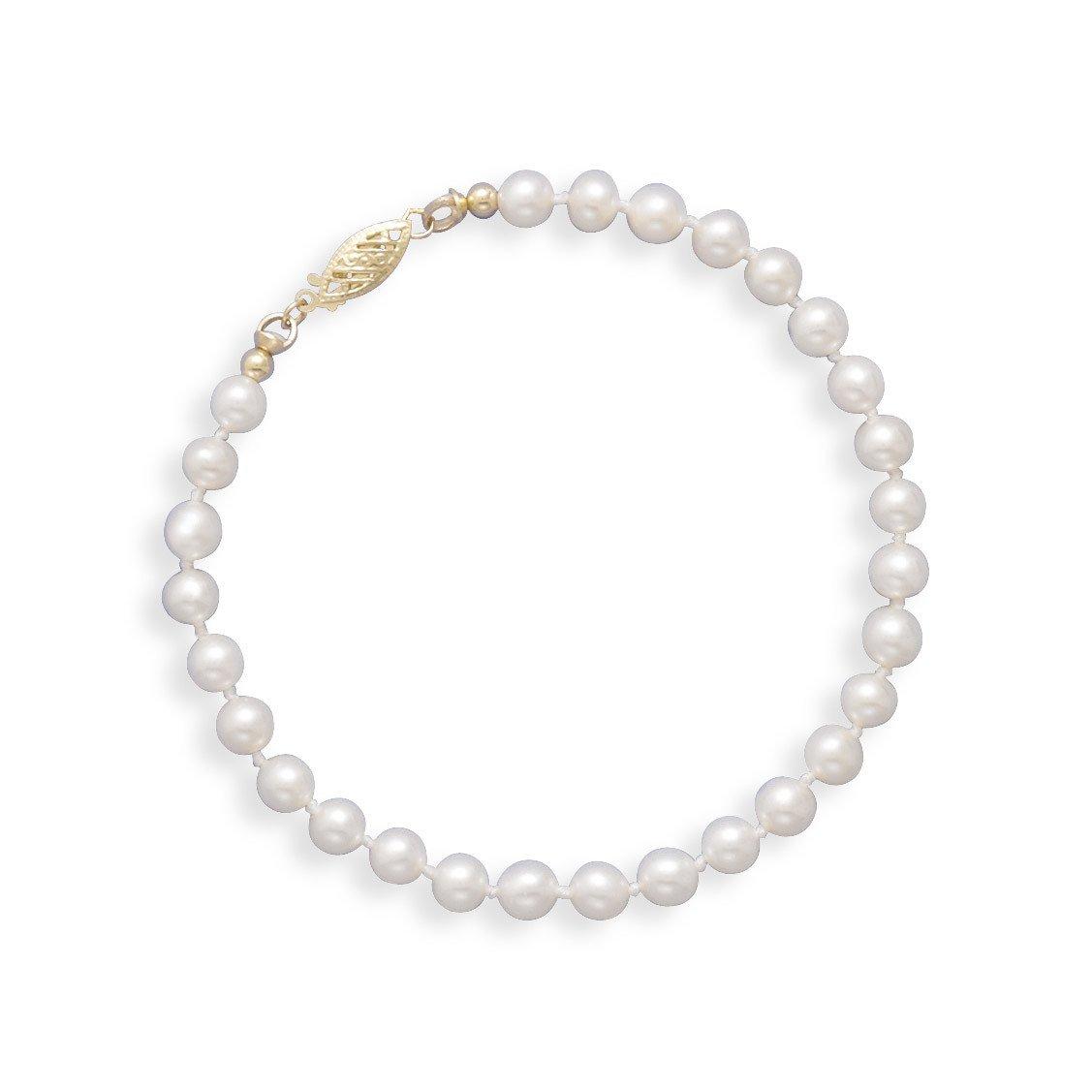 7″ 5-5.5mm Cultured Freshwater Pearl Bracelet