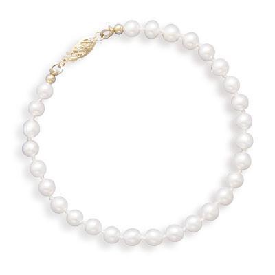 8″ 5-5.5mm Cultured Freshwater Pearl Bracelet