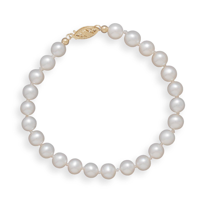 7″ 5.5-6mm Cultured Freshwater Pearl Bracelet