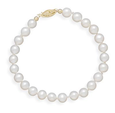 8″ 5.5-6mm Cultured Freshwater Pearl Bracelet