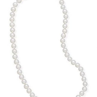 """24"""" 5.5-6mm Cultured Freshwater Pearl Necklace"""