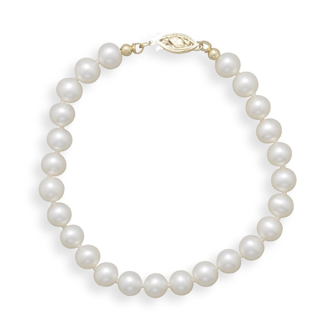 7″ 6-6.5mm Cultured Freshwater Pearl Bracelet