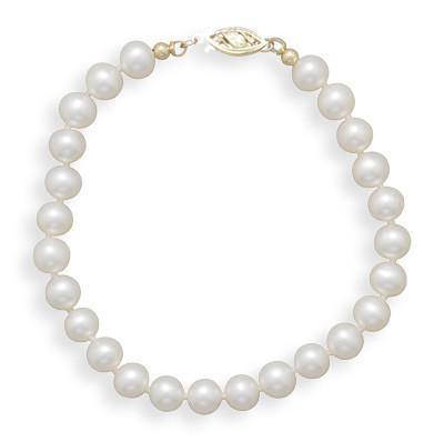 8″ 6-6.5mm Cultured Freshwater Pearl Bracelet