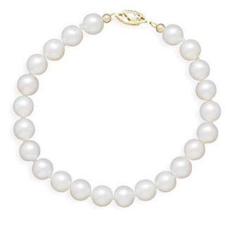 "8"" 6.5-7mm Cultured Freshwater Pearl Bracelet"