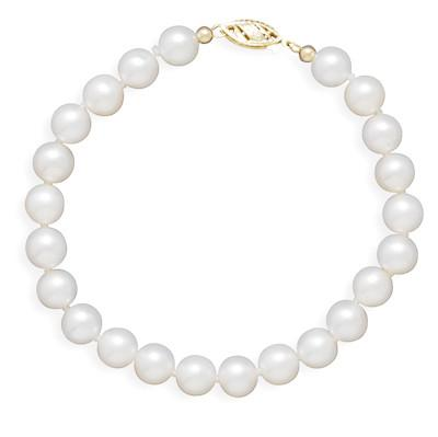 8″ 6.5-7mm Cultured Freshwater Pearl Bracelet