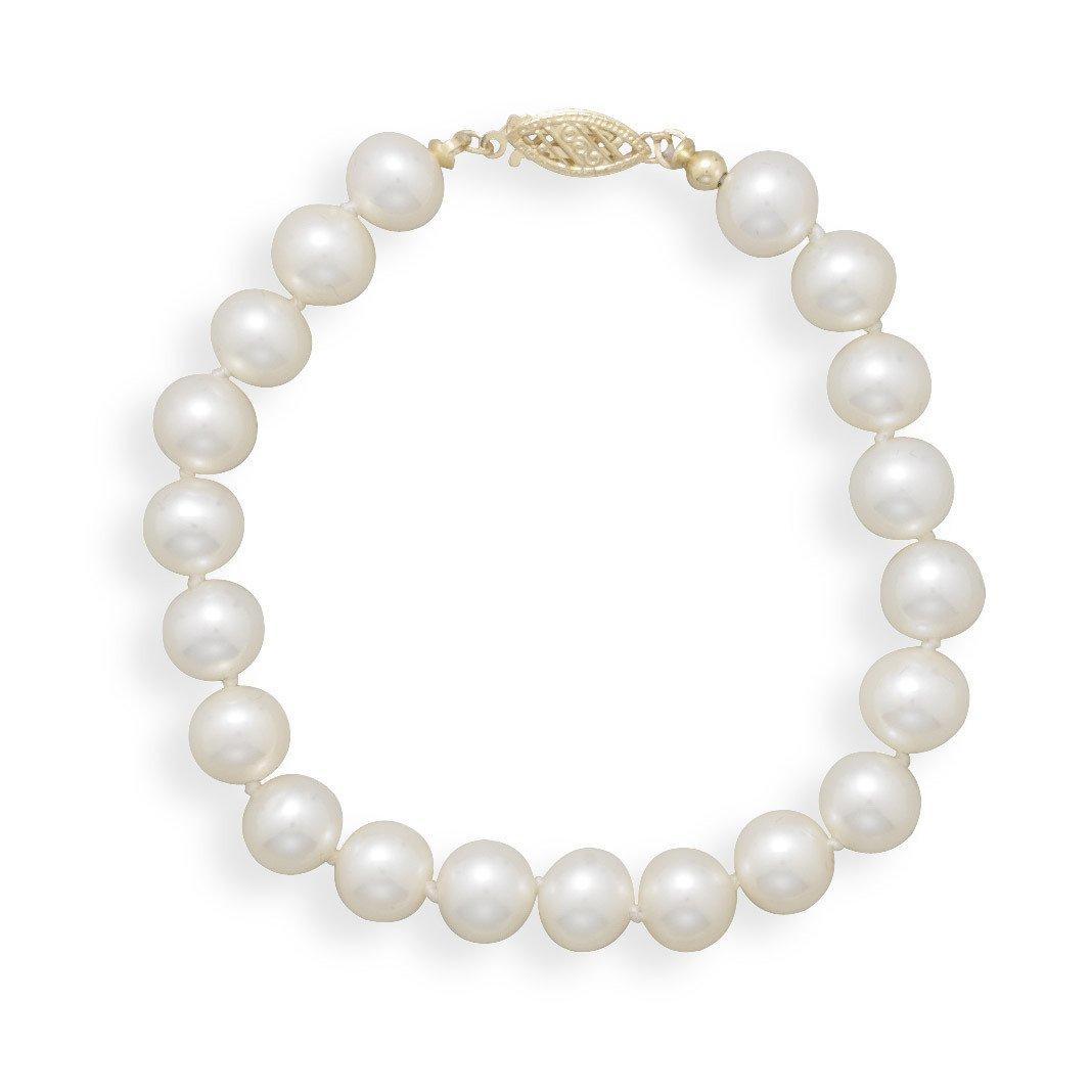 7″ 7-7.5mm Cultured Freshwater Pearl Bracelet