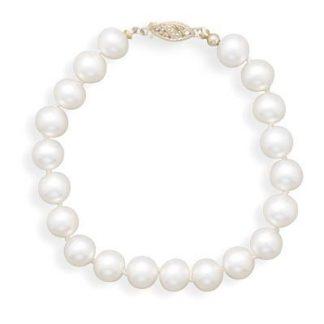 "8"" 7-7.5mm Cultured Freshwater Pearl Bracelet"