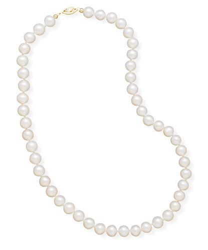 16″ 7.5-8mm Cultured Freshwater Pearl Necklace