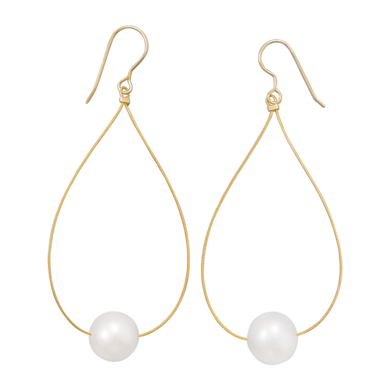 24 Karat Gold Plated Cultured Freshwater Pearl Earrings