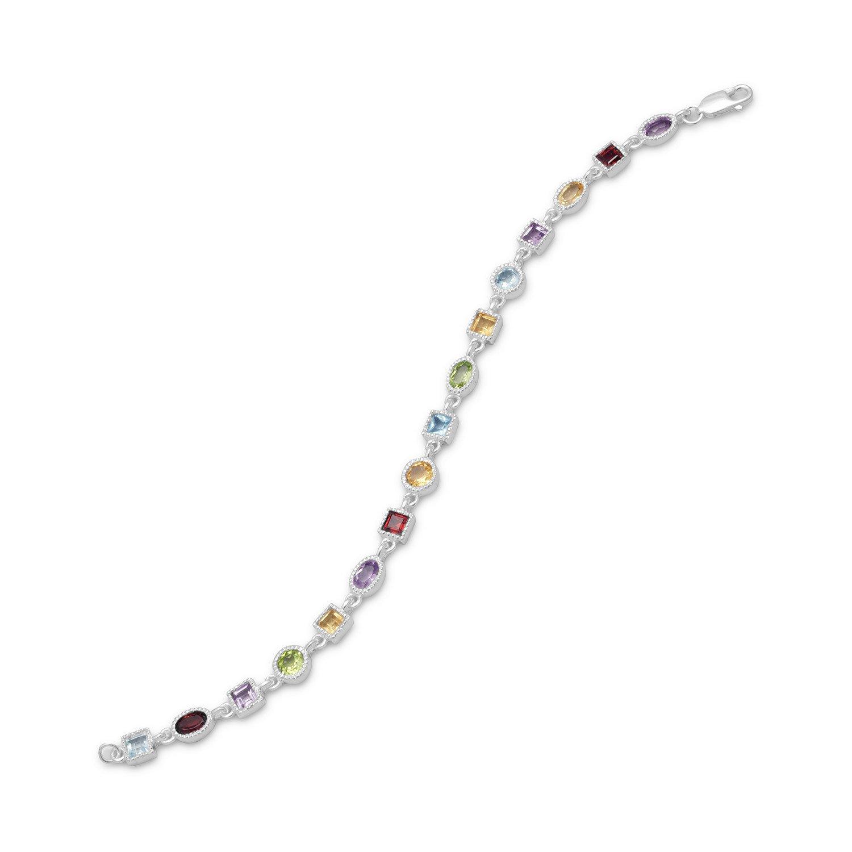7″ Single Link Multistone Bracelet