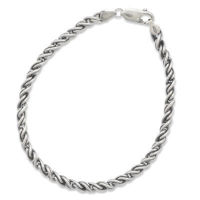 Men's Oxidized Rope Bracelet