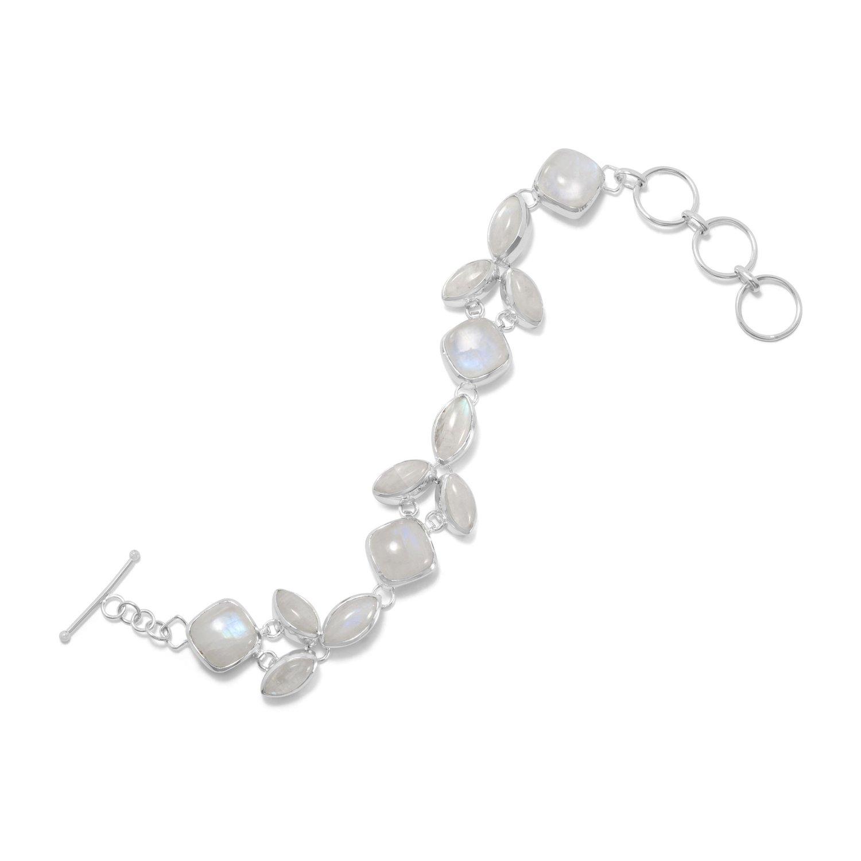 8″+1″ Extension Rainbow Moonstone Bracelet
