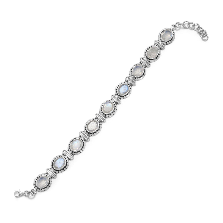 8″ Rainbow Moonstone Bracelet