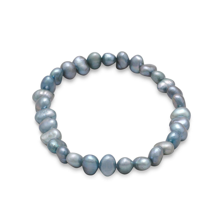 Sage Cultured Freshwater Pearl Stretch Bracelet