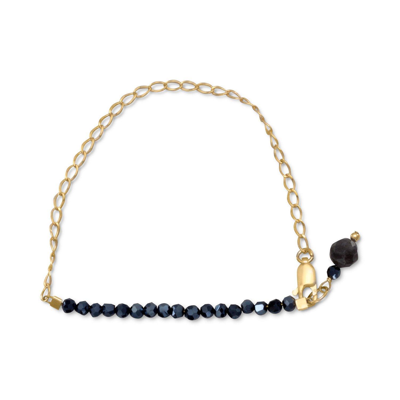 Sunset Black Czech Glass Bracelet