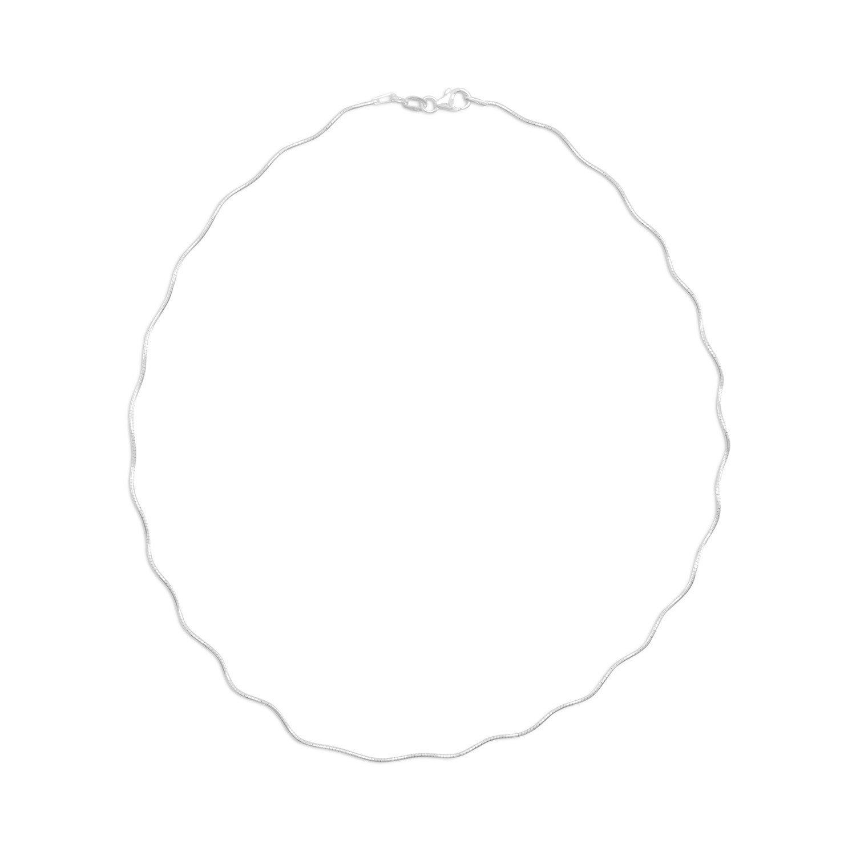 16″ Wavy Omega Style Necklace