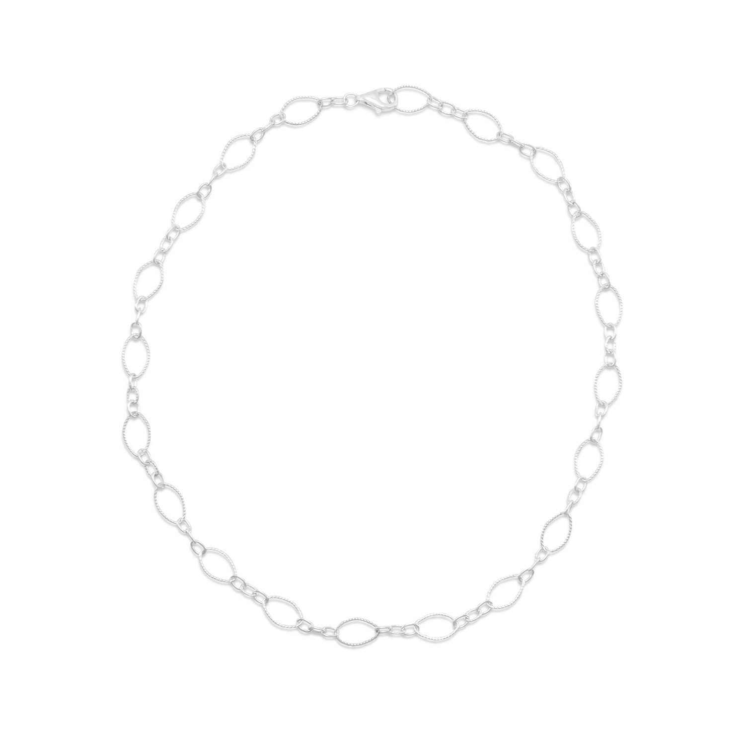 16″ Twist and Polished Link Chain Necklace