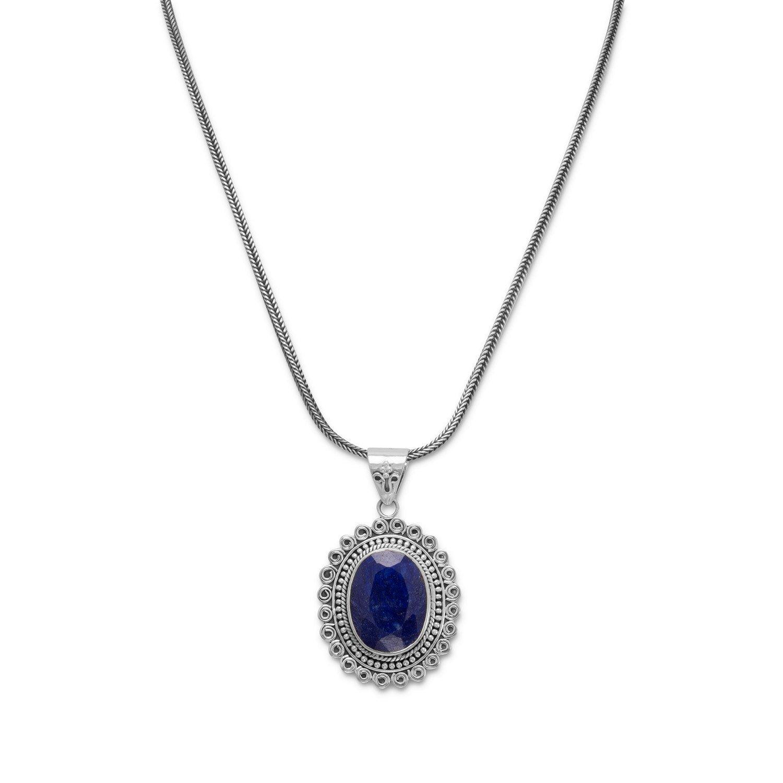 17.5″ Oxidized Corundum Necklace