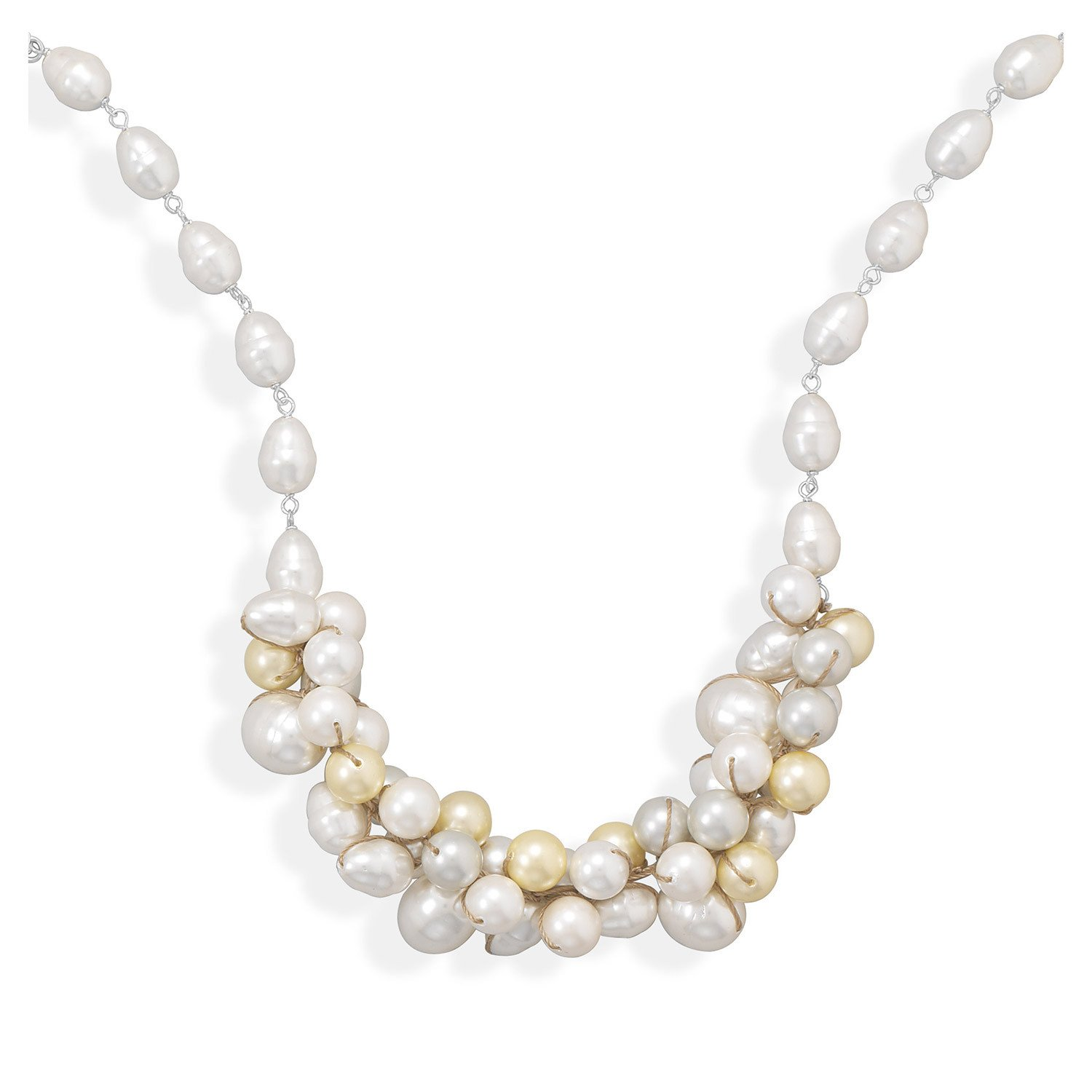 16″+2″ Multicolor Shell Base Pearl Necklace