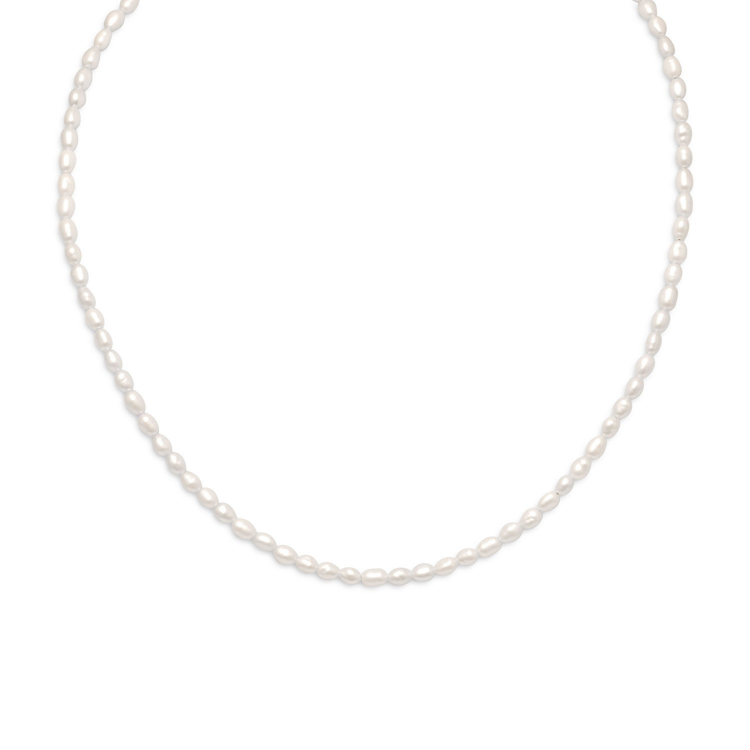 13″+2″ 14/20 Gold Filled Cultured Freshwater Rice Pearl Necklace