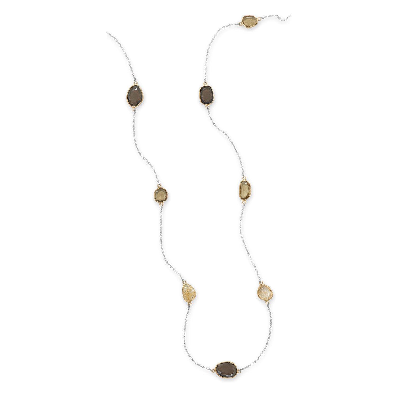 33″ Freeform Quartz Necklace