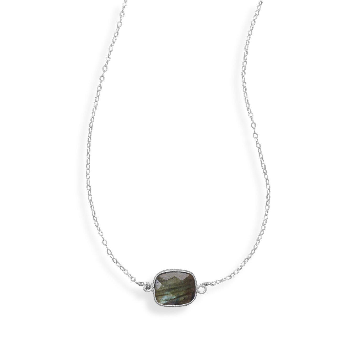 16″+2″ Labradorite Necklace