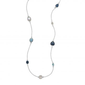 """29"""" Multistone Endless Necklace"""