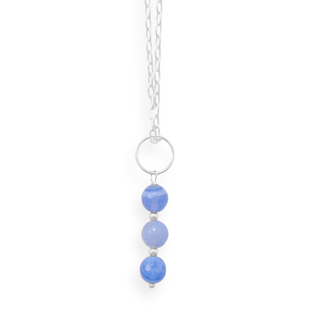 16″ Handmade Faceted Blue Quartz Necklace