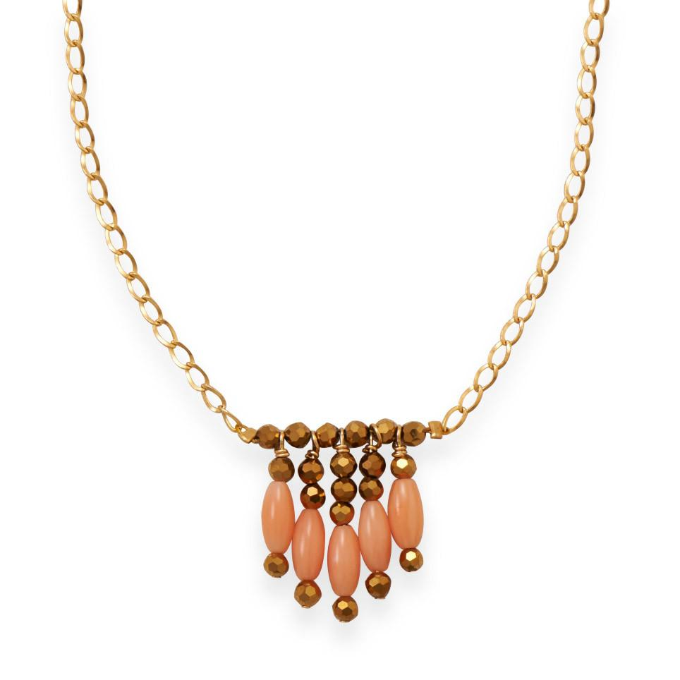 Just Peachy Coral Necklace