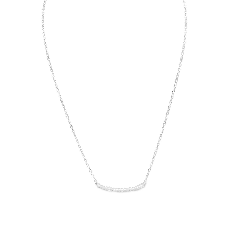 Faceted Clear Quartz Bead Necklace – April Birthstone